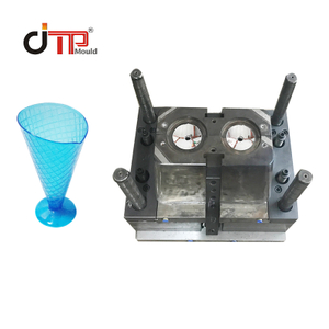 2 Cavities Colorful Plastic Injection Ice Cream Cup Mould